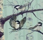 Chickadees by Wolveslair