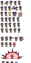SHADOW THE HOG FEMALE SPRITES (Link to PNG below) by furythehog
