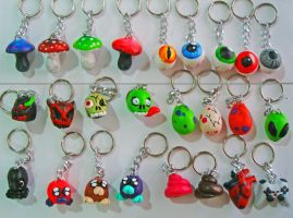 Figures for Keyrings 3 by JuanIglesias90