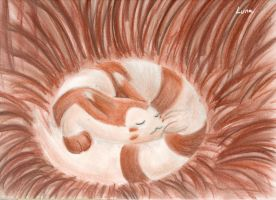 62. Sleep - Furret by sapphireluna