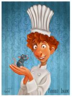 Alfredo Linguini- Ratatouille. by Niniel-Illustrator