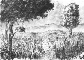 Charcoal Landscape by DRS2406