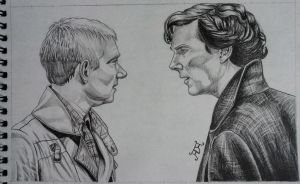 Sherlock and John by GizTheGunslinger
