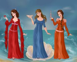 First Three Muses by RoseHarmony