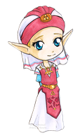 Chibi Kid Zelda by Ranefea