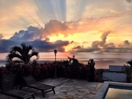 New Years Eve sunset in Hawaii by my-name-is-totoro