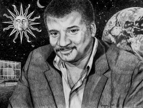 Neil deGrasse Tyson in His Space by Kiminjo