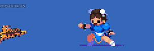 361/365 pixel art : Young Chun Li - Street Fighter by igorsandman