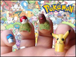 Pokemon Nails by JawsOfKita-LoveHim