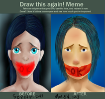 draw this again meme by selftaughtartist1
