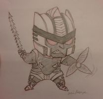 Chibi Dinobot Commission by perishing-twinkie
