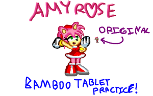 Amy Rose with Bamboo Tablet by LightDemonCodeH