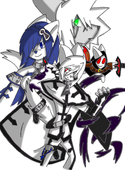 4 Main Heroes by Monochrome-Memory