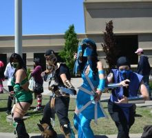Jade, Scorpion, Kitana and Sub-Zero by Sab-Zilla
