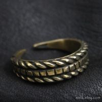 Bronze Slavic ring by Sulislaw