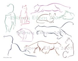 Minimalist Cats Sheet 1 by sidneyeileen