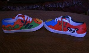 children's painted shoes 2 by amythystelle