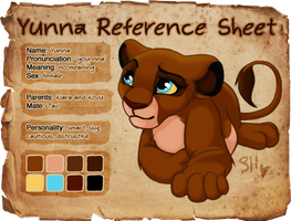 Yunna Reference Sheet by EmilyJayOwens
