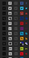 Social Media Icons - over 400 different ones by Myssham