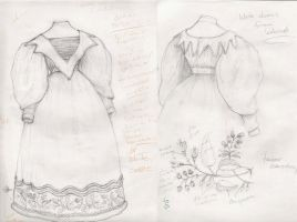 Wedding gown 1830's by janey-jane