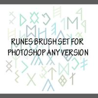 Runes Brushes for PhotoShop by Kiwigall2013