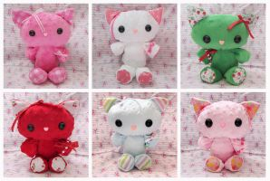Spring PatterKitty Plushies by ChibiWorks