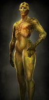 Female Drell by Skelletang