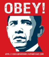 Obey Obama no. 3 by Conservatoons