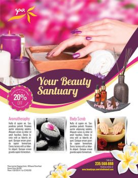 Beauty Spa Flyer by inddesigner
