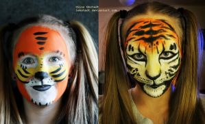 Mc.Donalds vs Me! Tiger make-up by Lekstedt