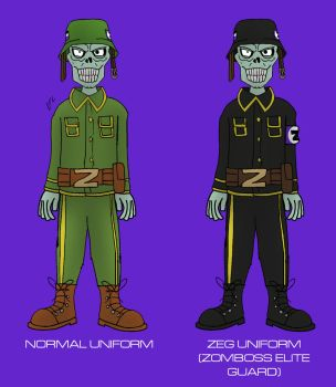 Plants vs. Zombies: Armagarden - Soldier Zombie by Rose-Supreme