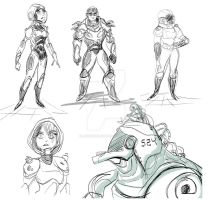 Space Sketches by animegirl43