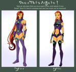Before and After Meme: Starfire by Glee-chan