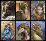 Painterly Digital Badges, batch I by Nambroth