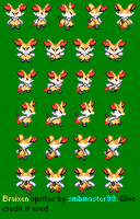 PMD-style Braixen sprite - finished (I think :P) by smbmaster99