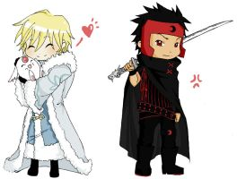 Stickers - Kurogane and Fay by Waders