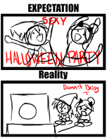 Expectation Reality for Halloween by Lexial-XIII