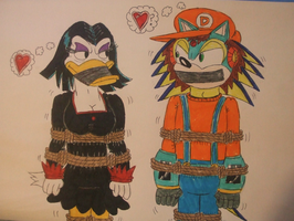 Detonator and Magica De Spell: bound and gagged by spyaroundhere35