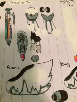 Correction Pen and Blank Reference Sheet by CookiesAndCreamMC
