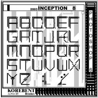 Inception 8 Korebent AlphaFont by inception8