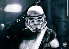 Star Wars - Stormtrooper Of Death by l3raindead