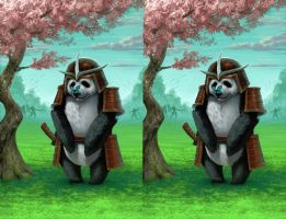 Panda Warrior Stereogram by sdl