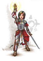 Halfling Cleric of Iomedae by CrescentMoon
