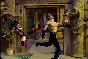 Mileena vs Johnny Cage by Tygerlander