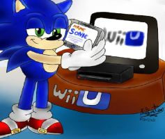 Sonic - Playing - Wii U by I-G-imagination