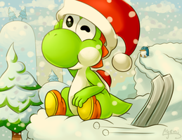 Winter in Yoshi's Island by Yereren