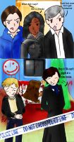 Sherlock: Inappropriate Giggling by Lightingale