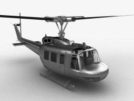 UH-1 Huey helicopter by mmajestik