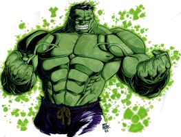 Hero 2: The Hulk Colored by nork