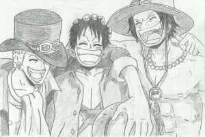 One Piece ( Sabo - Luffy - Ace ) by furkin123